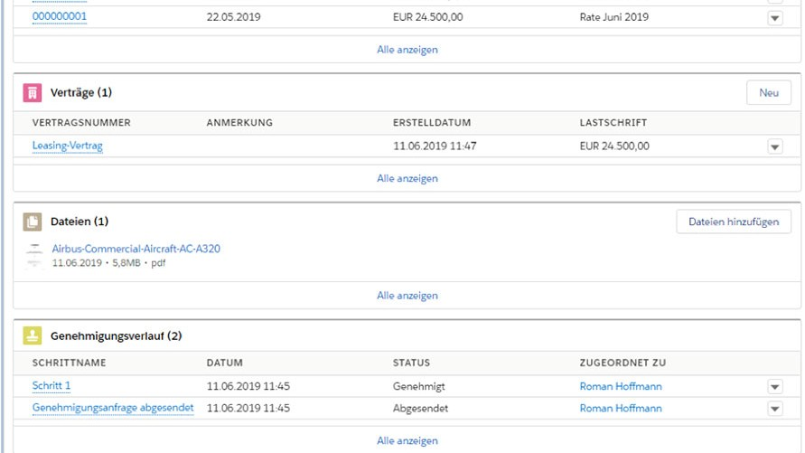Asset Management CRM CAMP - Asset Ansicht - Asset Manager - Screenshot