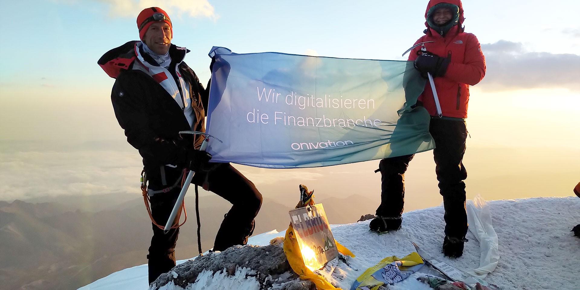 Roman Hoffmann auf dem Elbrus